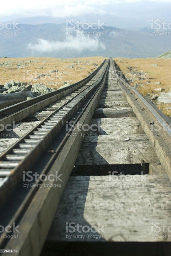 Cog railway track stock photo