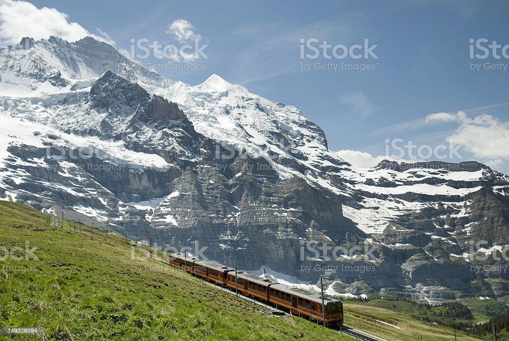 Cog Railway Train in Switzerland royalty-free stock photo