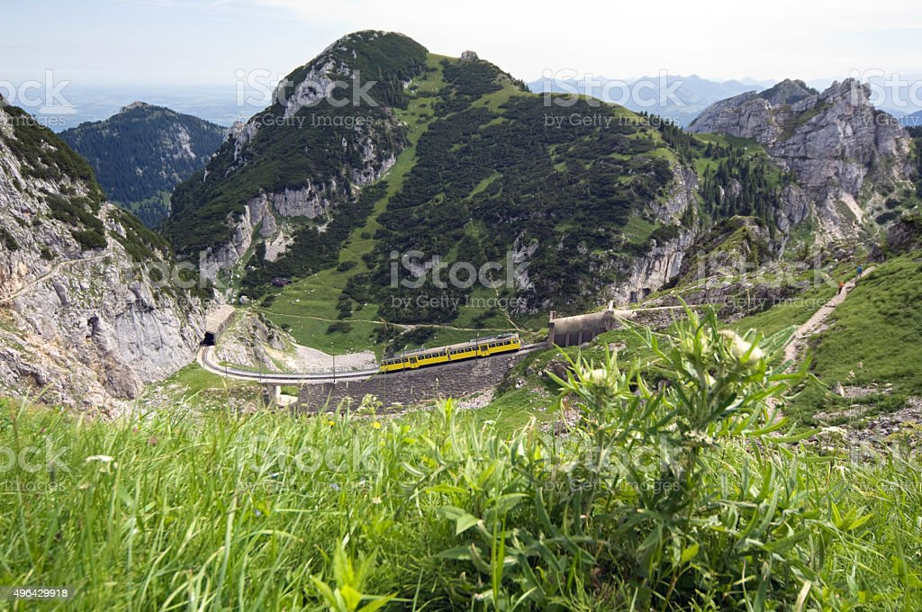 Cog Railway Wendelstein alps, Germany stock photo