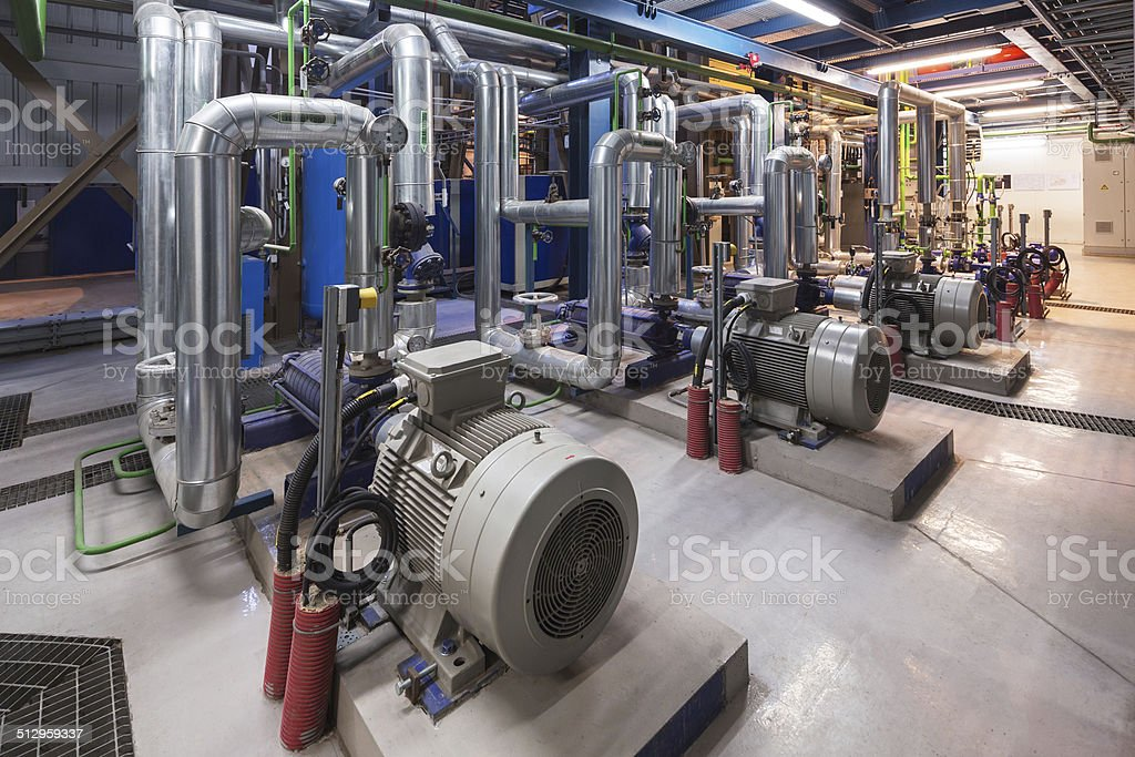 Cogeneration plant stock photo