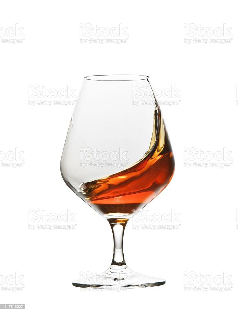 cognac brandy glass royalty-free stock photo