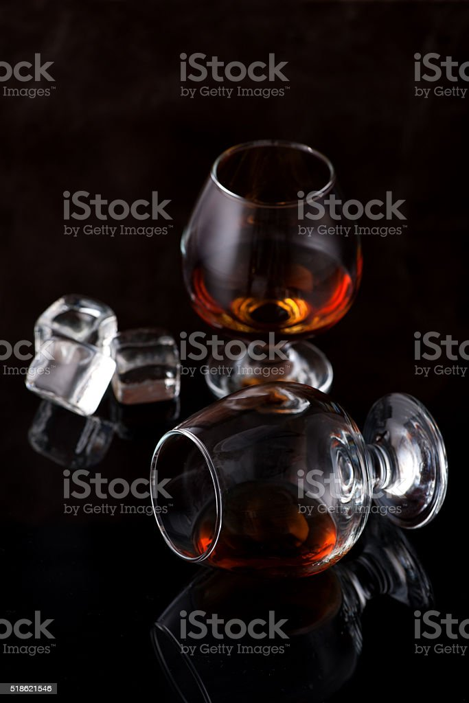 Cognac brandy whiskey stock photo