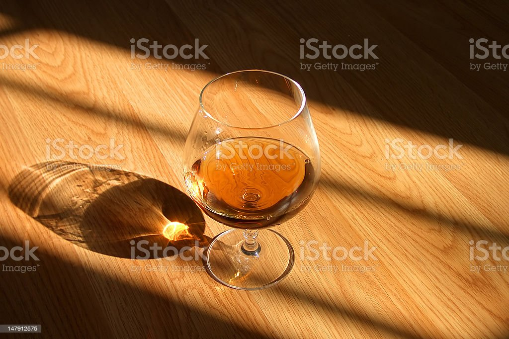 cognac drink royalty-free stock photo
