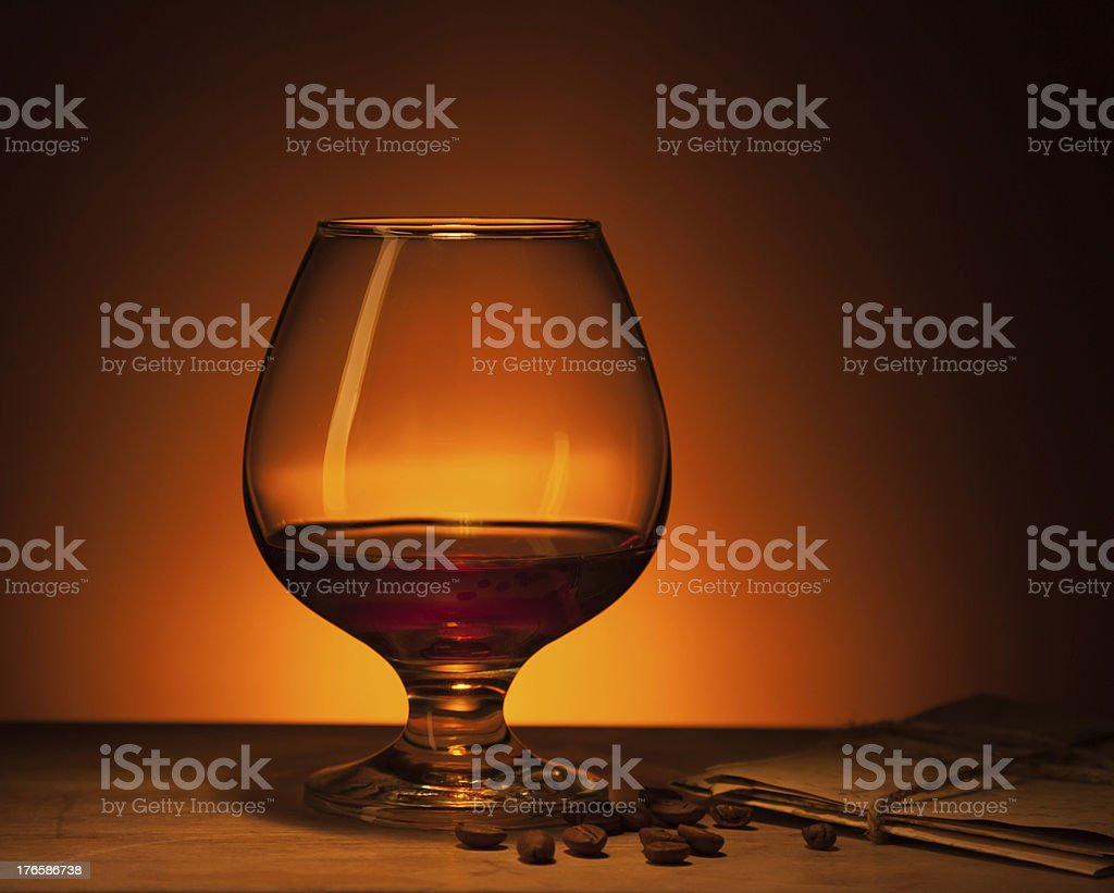 cognac glass royalty-free stock photo