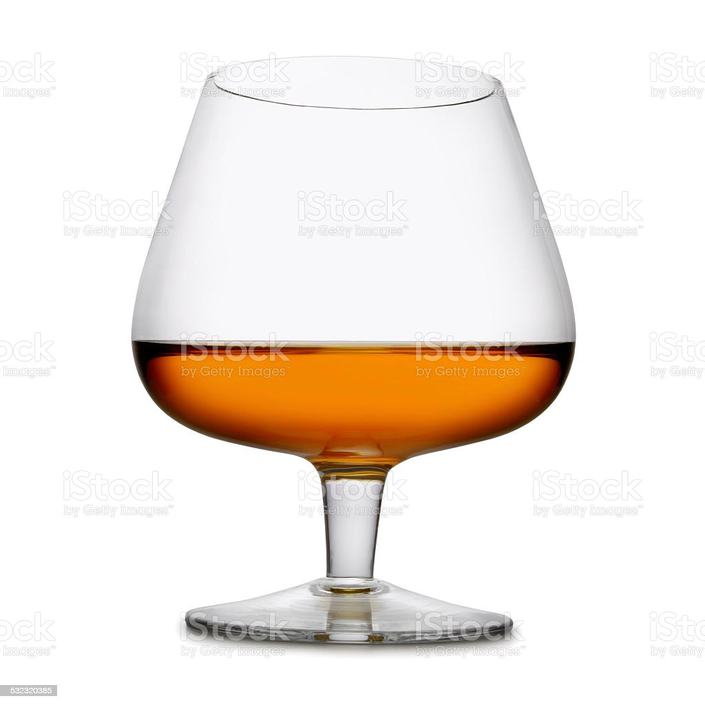 Cognac Glass (with path) stock photo