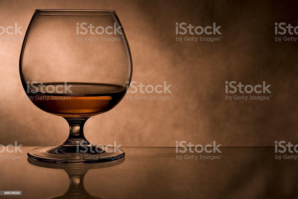 cognac glass stock photo