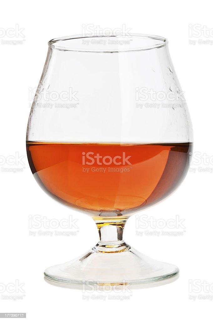 cognac in a classic glass stock photo