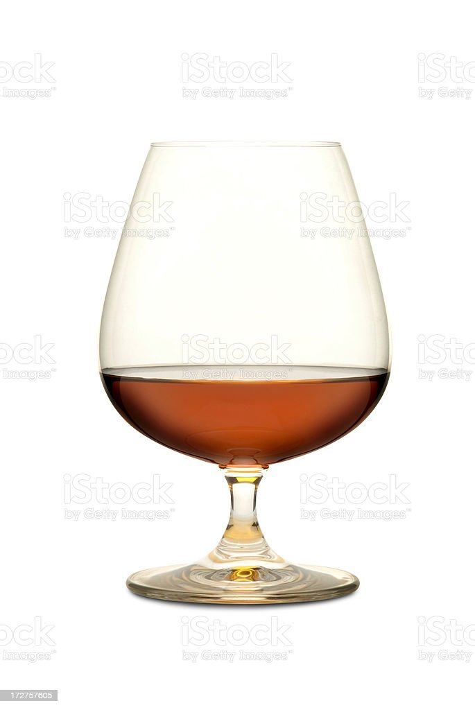 Cognac with Path royalty-free stock photo