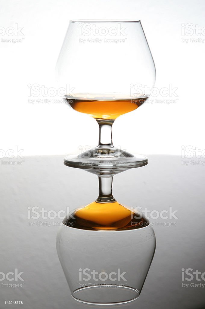 cognac with reflection royalty-free stock photo