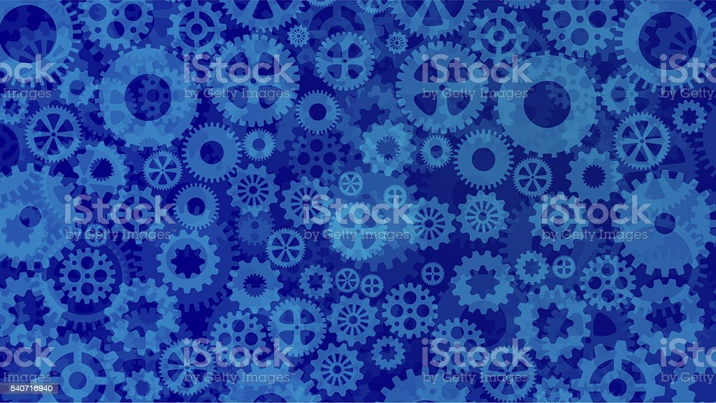 Cogs and gears background stock photo