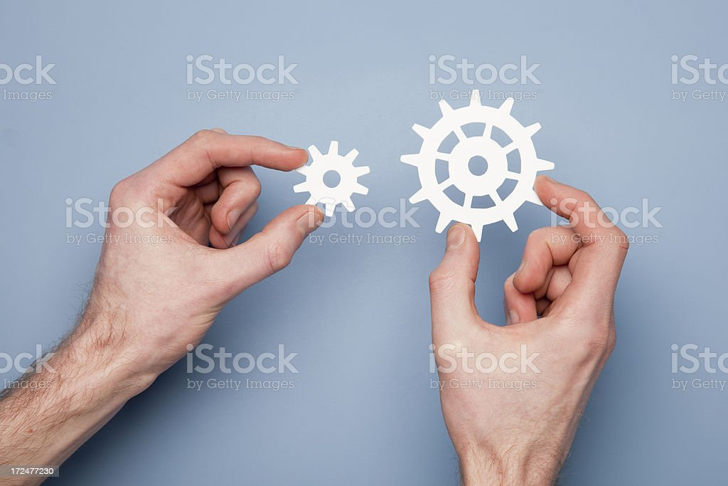 Cogs and gears royalty-free stock photo