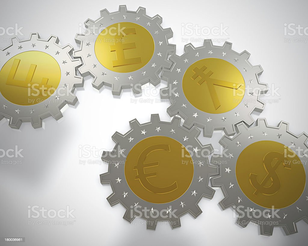 Cogwheel coins royalty-free stock photo
