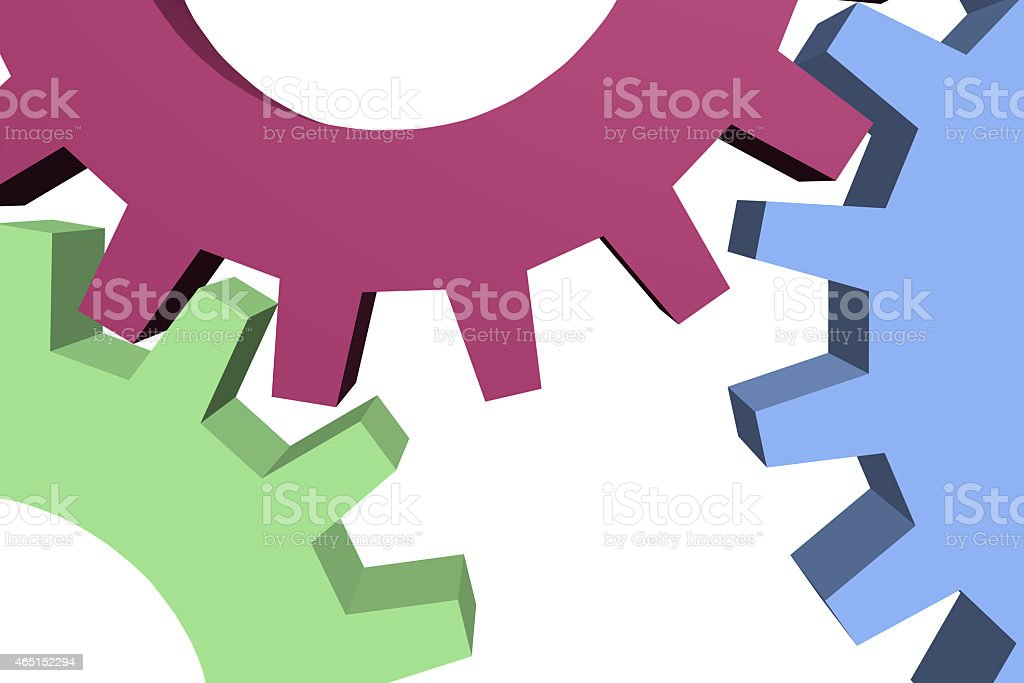 cogwheel collaboration organization network stock photo