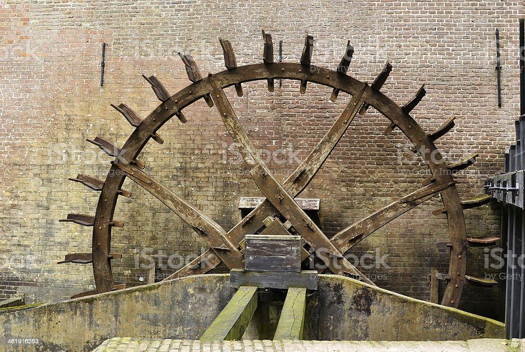 Cogwheel ドライブの水車。 ロイヤリティフリーストックフォト