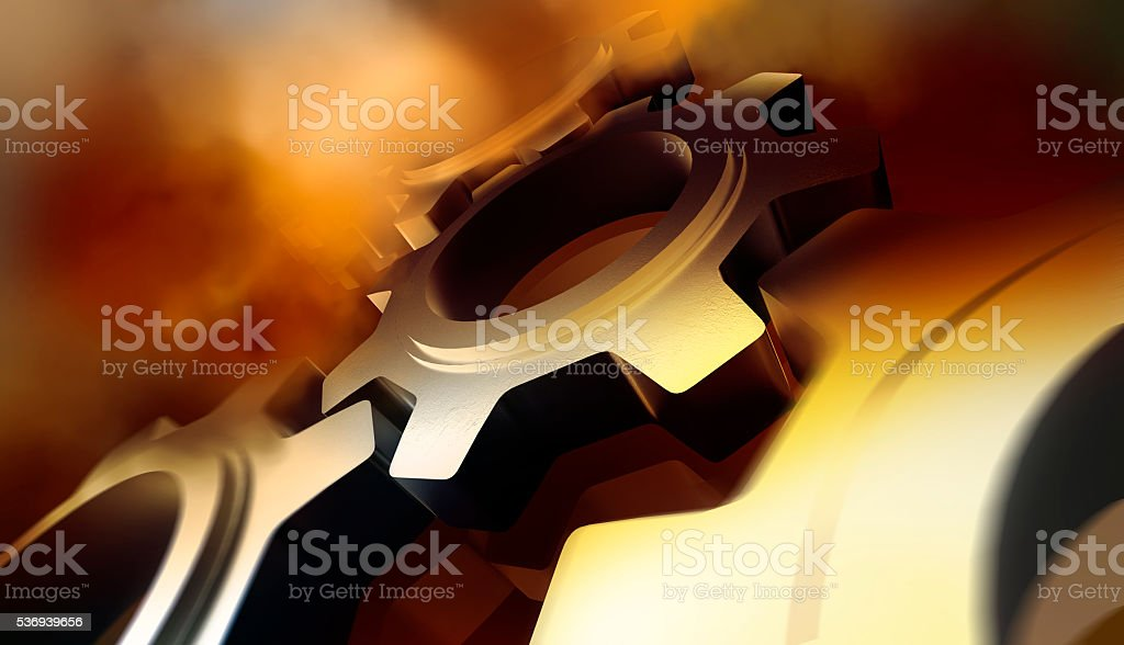 Cogwheel Mechanism stock photo