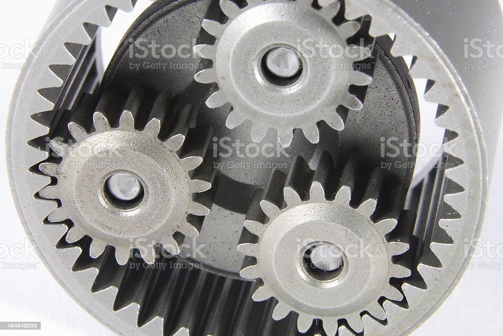 cogwheel on white background stock photo