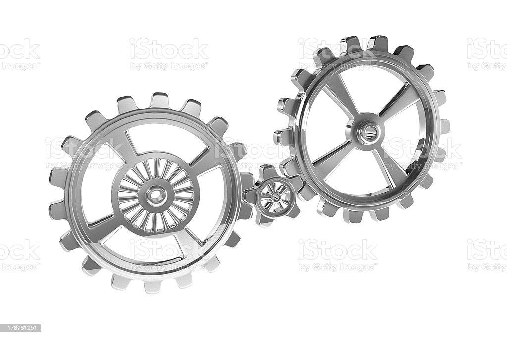 Cogwheels - Chrome royalty-free stock photo