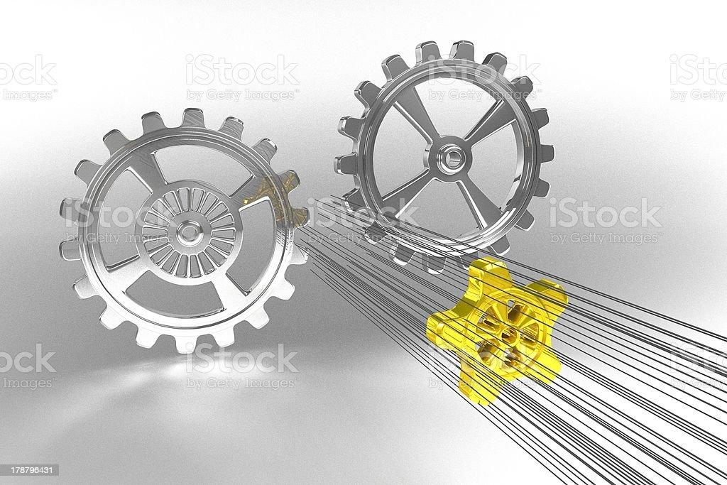 Cogwheels - Solution royalty-free stock photo