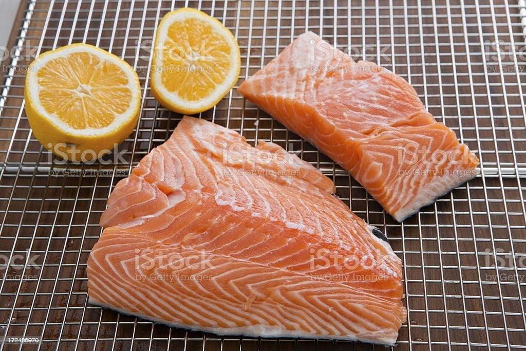 Coho Salmon Fillets stock photo