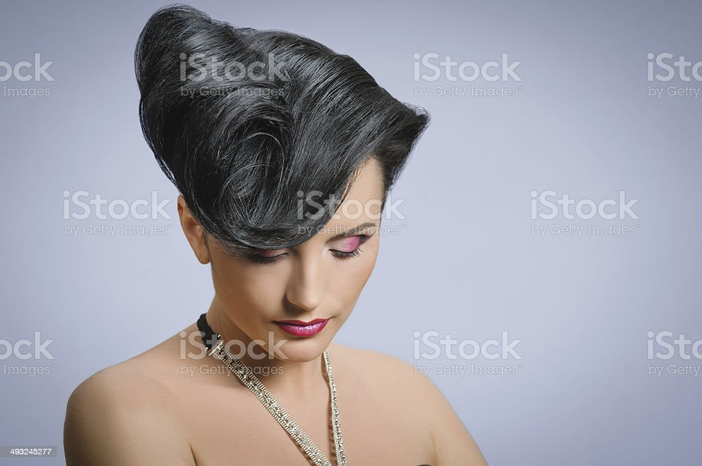 coiffure quiff stock photo