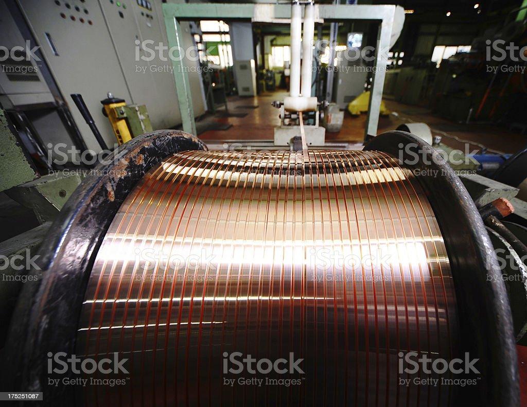 Coil of copper wire stock photo