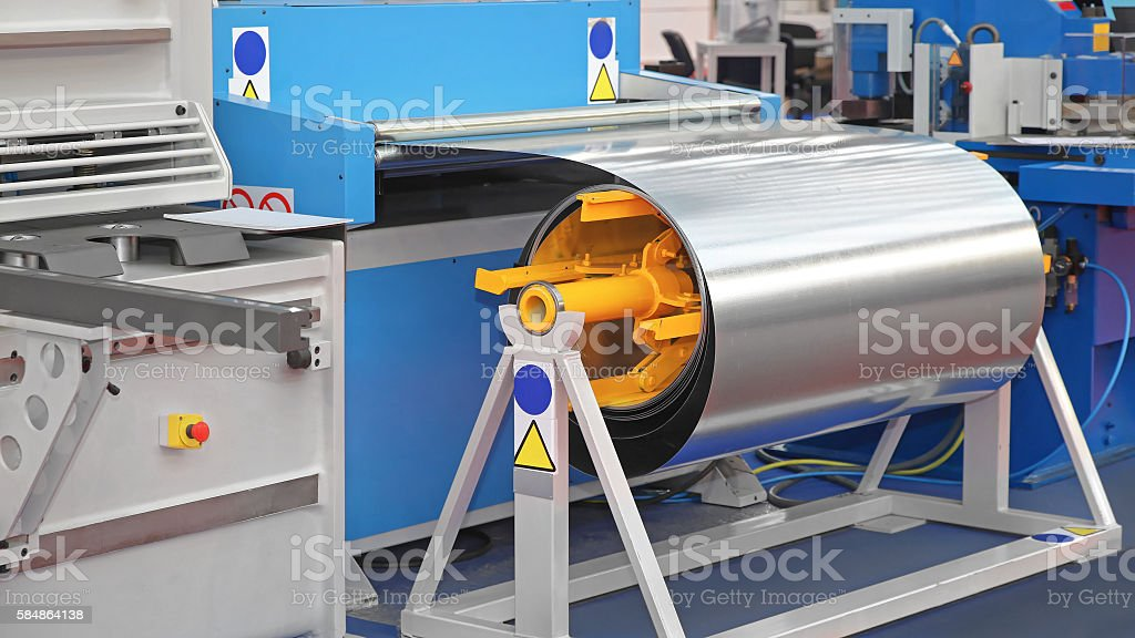 Coil Processing stock photo