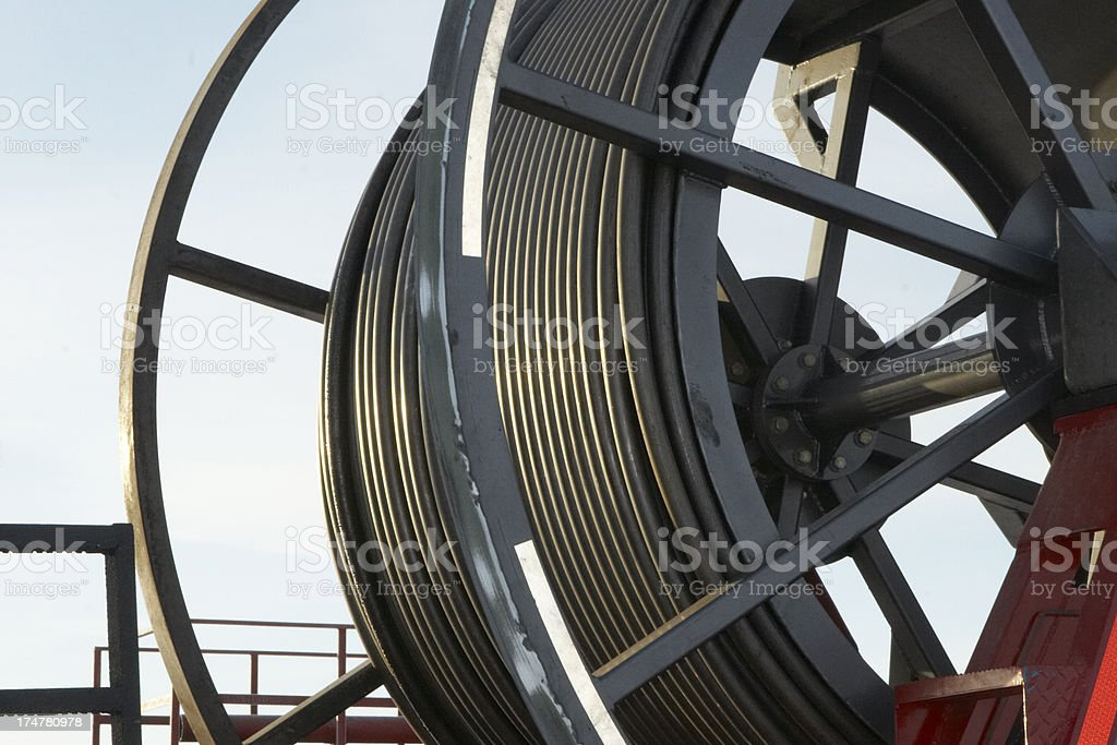 Coil Tubing Truck stock photo