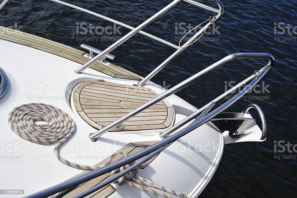 Coiled Nautical Line royalty-free stock photo