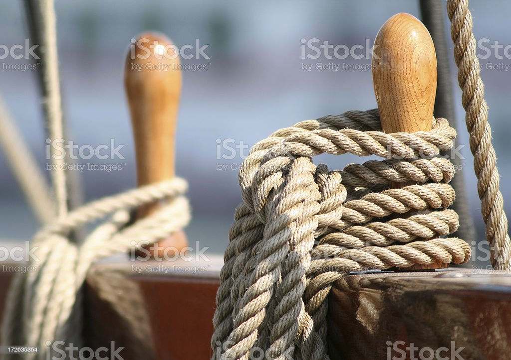 Coiled Rope stock photo