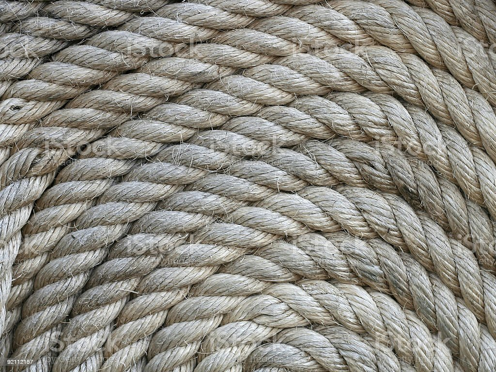 Coiled rope texture royalty-free stock photo