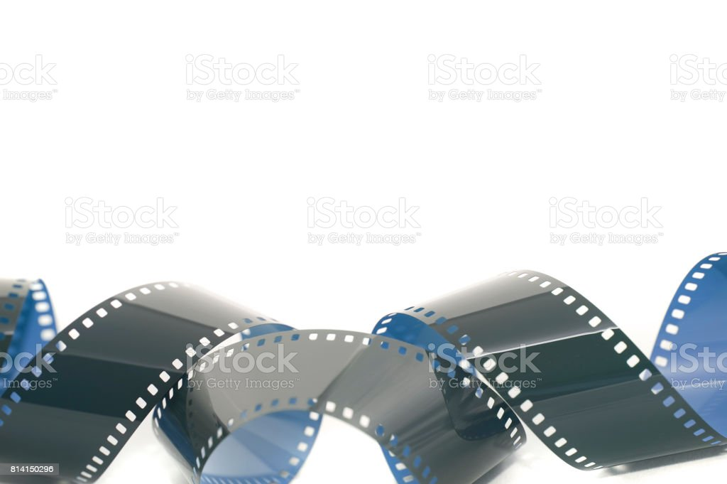 Coiled strip of 35mm photographic film stock photo