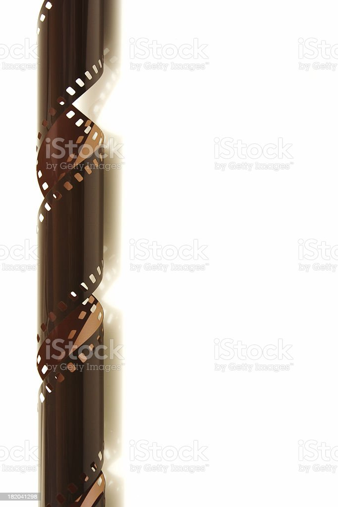 coiling film strip edge royalty-free stock photo