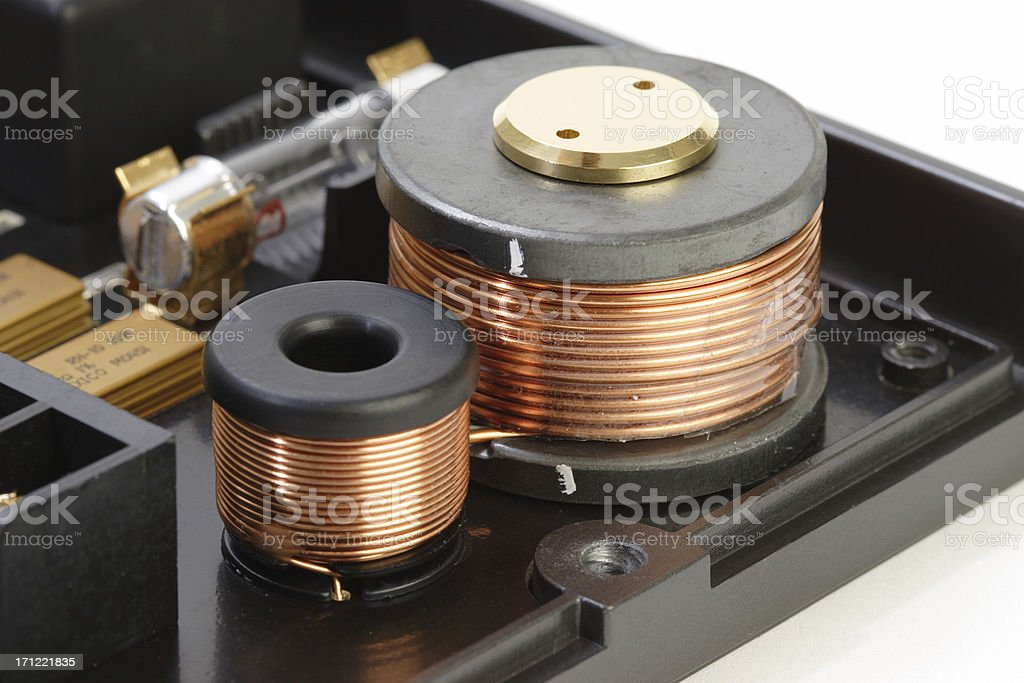 Coils on Circuit Board stock photo