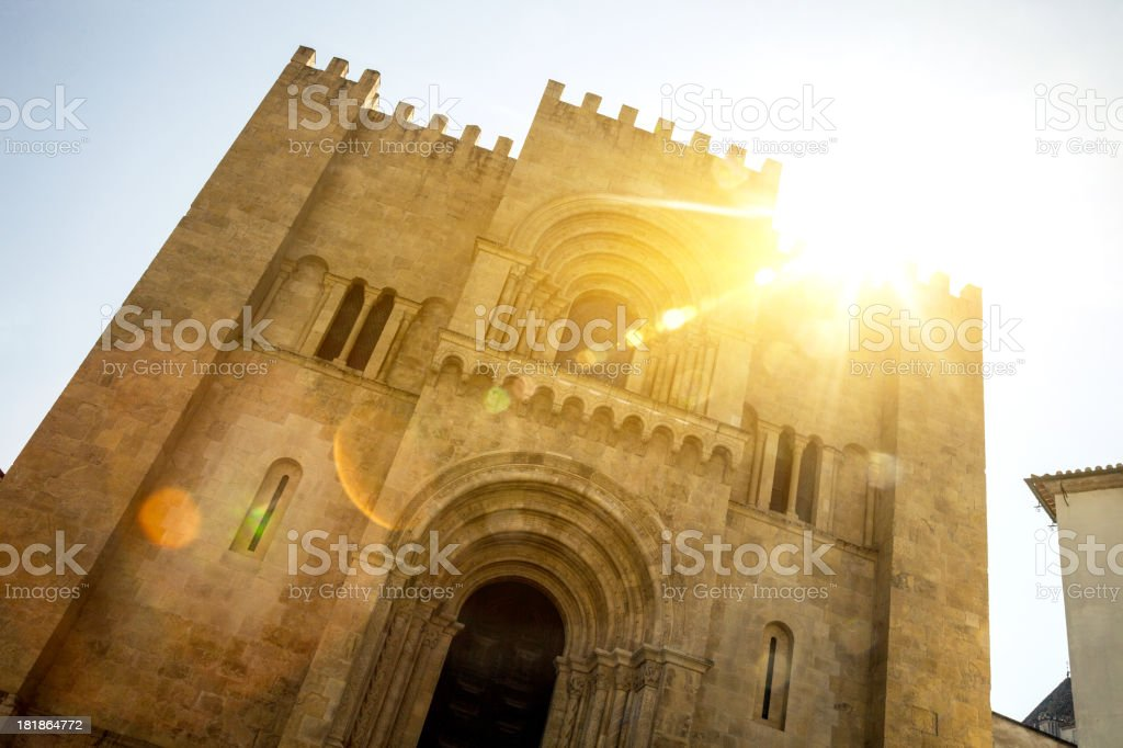 Coimbra old Cathedral royalty-free stock photo