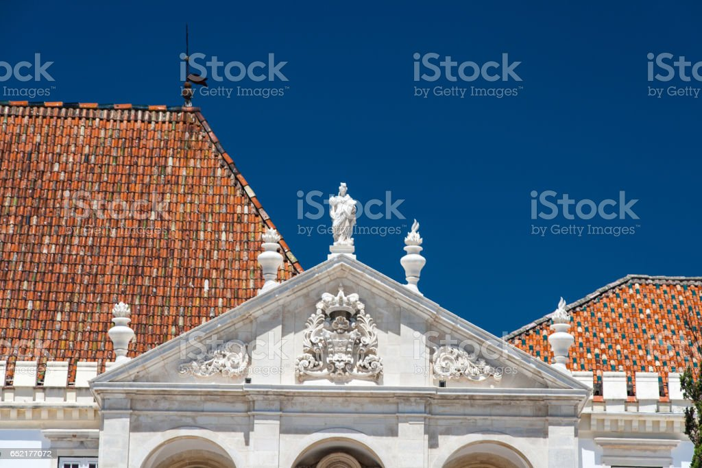 Coimbra University in central Portugal stock photo