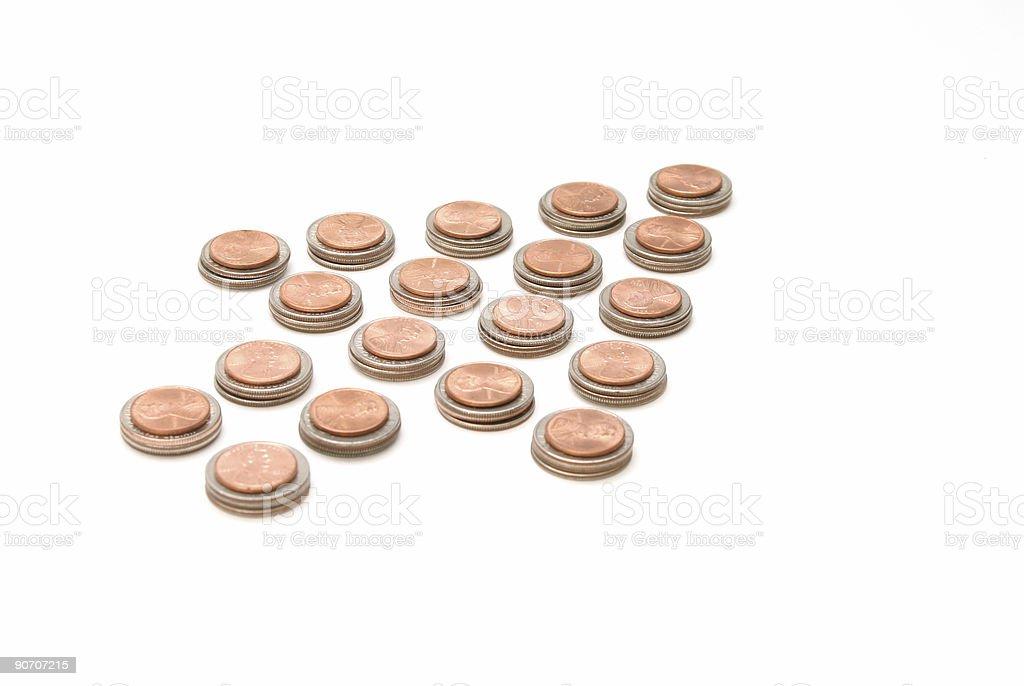 Coin arrow royalty-free stock photo