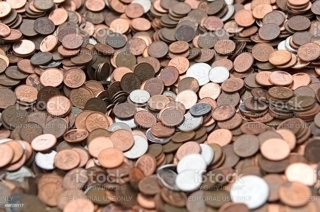 Coin Background stock photo
