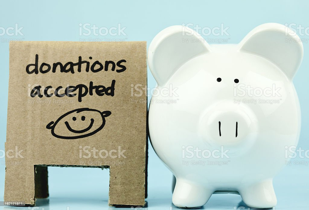 Coin Bank for Charity royalty-free stock photo