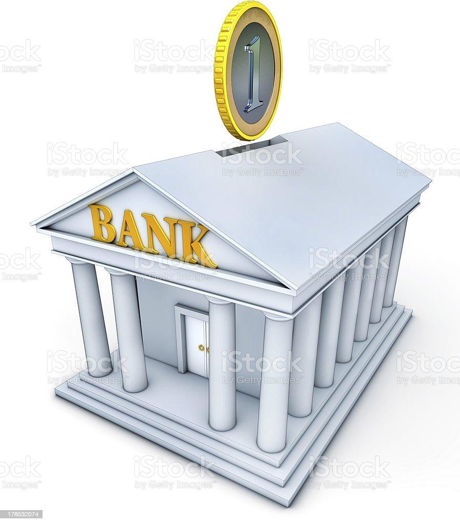 coin bank stock photo