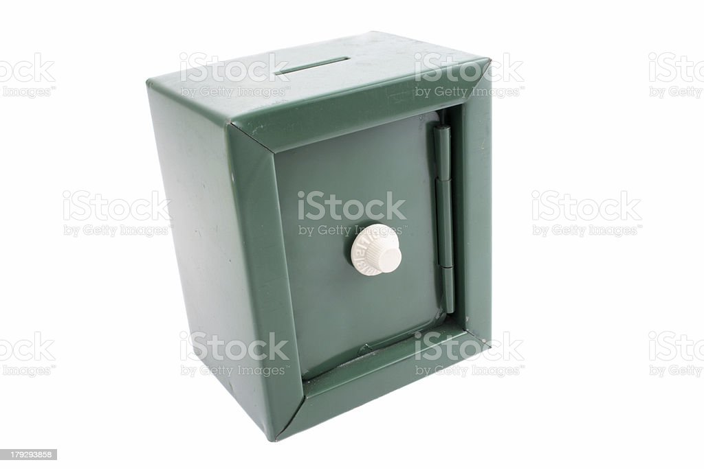 Coin bank safe royalty-free stock photo
