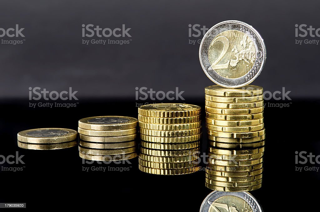Coin bars royalty-free stock photo