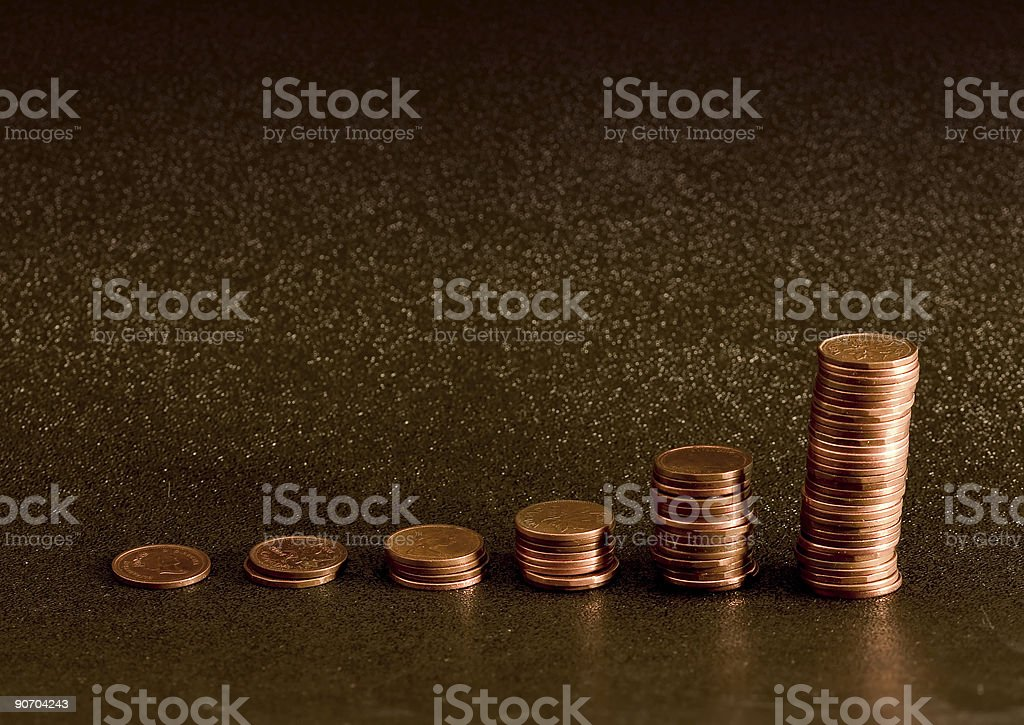 Coin chart royalty-free stock photo