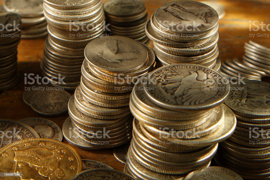 Coin Collecting. stock photo