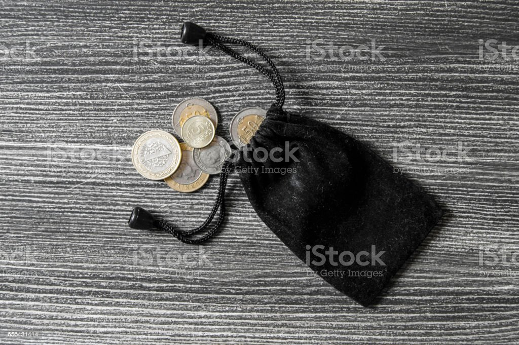 Coin cut, coin, turkish lira, mine turkish lira, stock photo