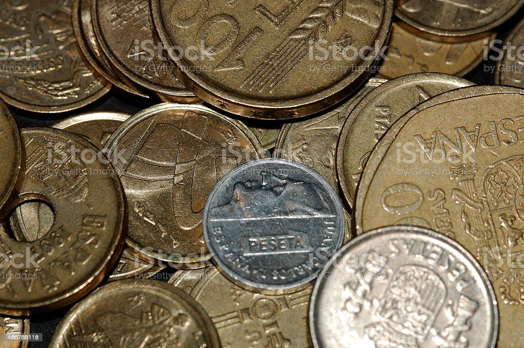 Coin detail stock photo