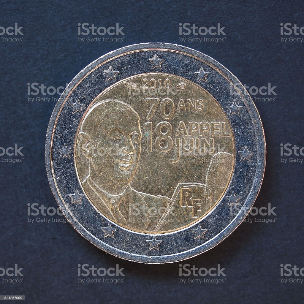 coin from France stock photo