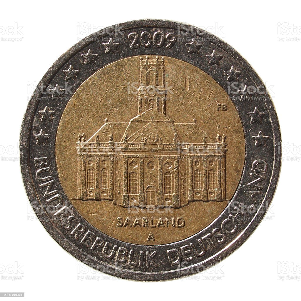coin from Germany stock photo