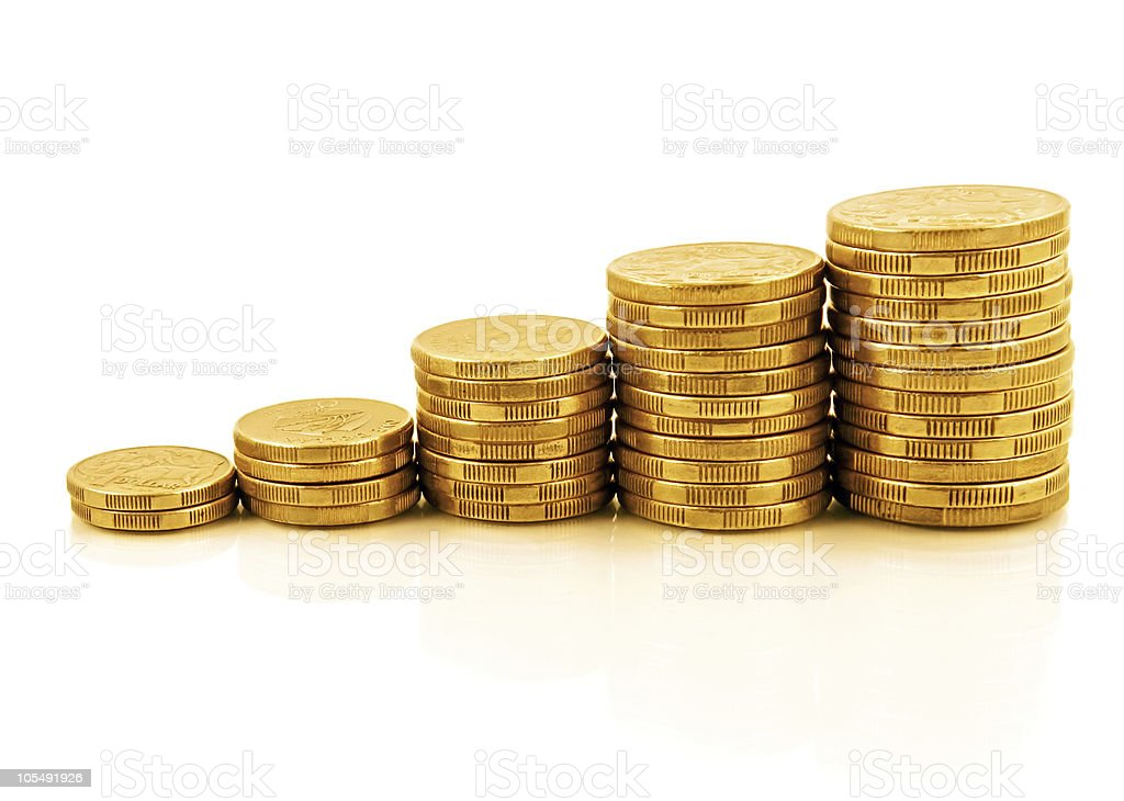 Coin Graph royalty-free stock photo