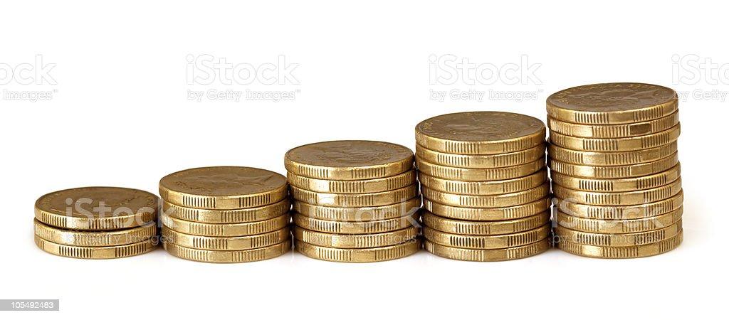 Coin Graph stock photo