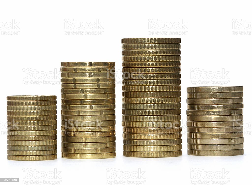 Coin Graphic (frontal) stock photo